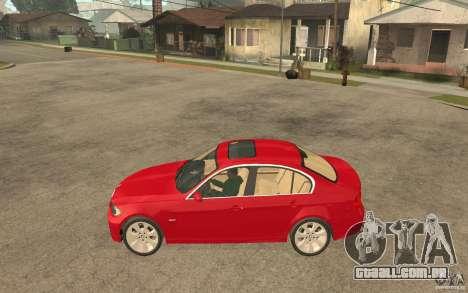 BMW 330i E90 v.2.0 para GTA San Andreas esquerda vista