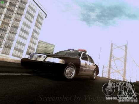 Ford Crown Victoria Los Angeles Police para GTA San Andreas esquerda vista