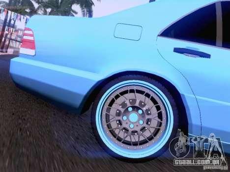 Mercedes-Benz S-Class W140 para GTA San Andreas vista inferior