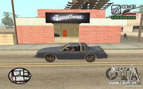 Um Paint Shop West Coast Customs para GTA San Andreas segunda tela