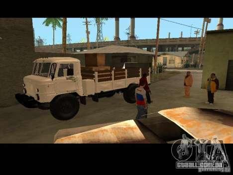 GAZ 66 Parade para GTA San Andreas vista traseira