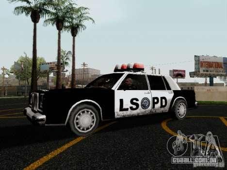 Greenwood Police LS para GTA San Andreas esquerda vista