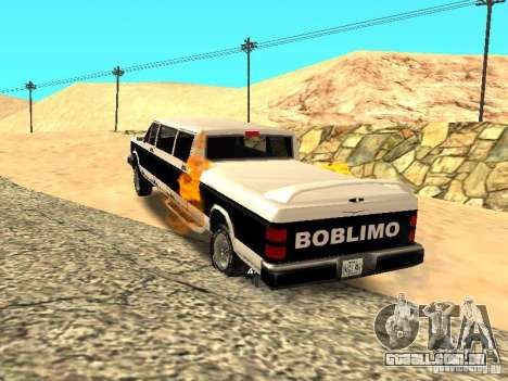 BOBCAT Limousine para GTA San Andreas traseira esquerda vista