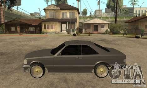 Mercedes-Benz 560 sec w126 1991 para GTA San Andreas esquerda vista