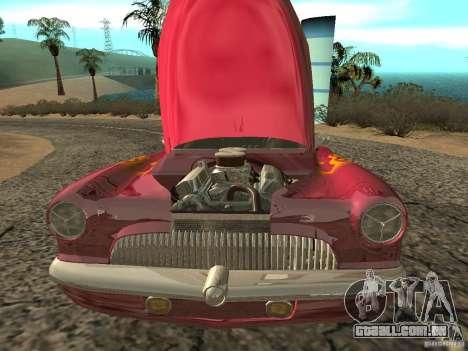 Buick Custom 1950 LowRider 1.0 para GTA San Andreas vista interior