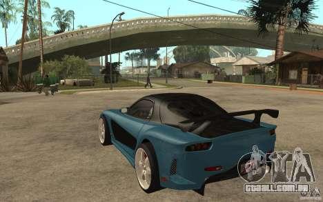 Mazda RX 7 VeilSide para GTA San Andreas vista traseira
