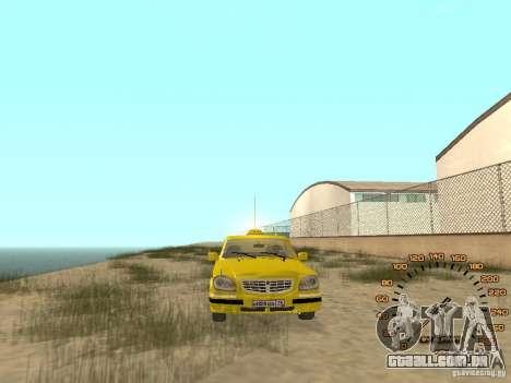Gaz-31105 táxi para GTA San Andreas vista direita