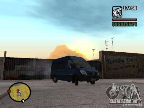 Mercedes-Benz Sprinter 2500 High Roof Passenger para GTA San Andreas vista direita