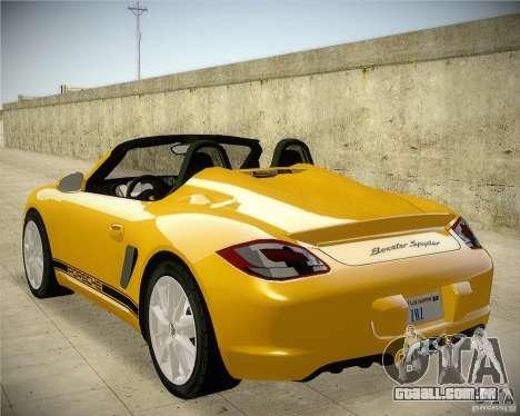 Porsche Boxter Spyder para GTA San Andreas esquerda vista