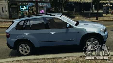 BMW X5 xDrive30i para GTA 4 esquerda vista