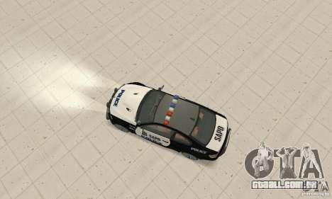 BMW M3 E92 Police para GTA San Andreas vista direita