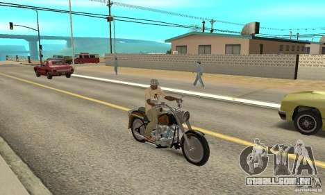 Harley Davidson FLSTF (Fat Boy) v2.0 Skin 3 para GTA San Andreas vista direita