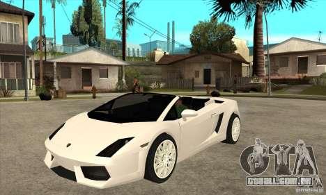 Lamborghini Gallardo Spyder v2 para GTA San Andreas