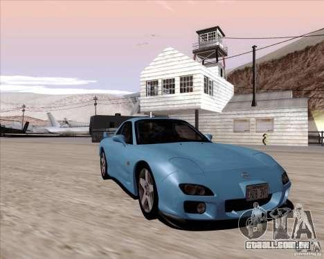 Mazda RX7 2002 FD3S SPIRIT-R (Type RS) para GTA San Andreas vista traseira