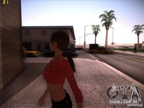 Skin Girl NFS PS para GTA San Andreas por diante tela