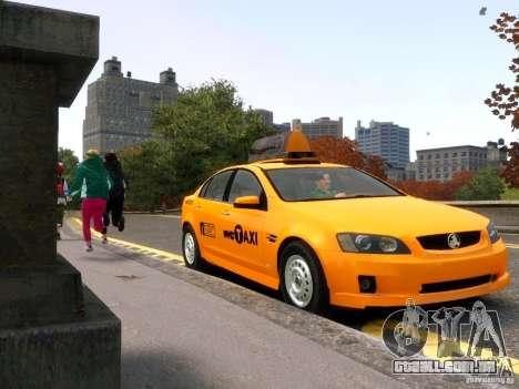 Holden NYC Taxi para GTA 4 vista de volta