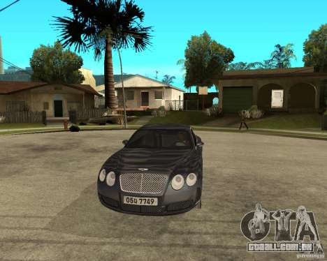 Bentley Continental GT para GTA San Andreas vista traseira