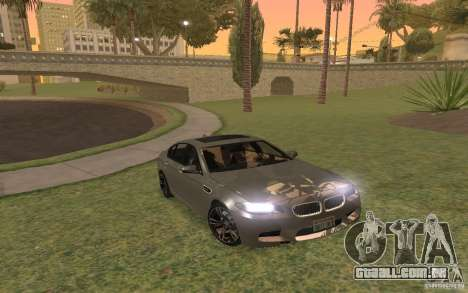BMW M5 para GTA San Andreas vista superior