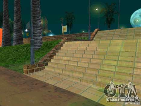 New basketball court para GTA San Andreas terceira tela