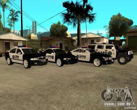 GTA San Andreas SAPD POLICE PACK para GTA San Andreas traseira esquerda vista