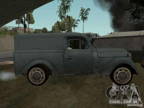 O veículo da segunda guerra mundial para GTA San Andreas vista direita