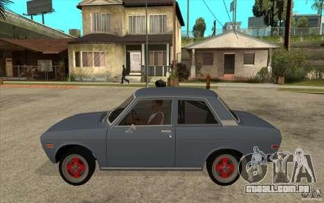 Datsun 510 JDM Style para GTA San Andreas esquerda vista