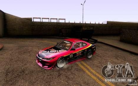 Nissan Silvia S15 Drift Style para GTA San Andreas vista inferior