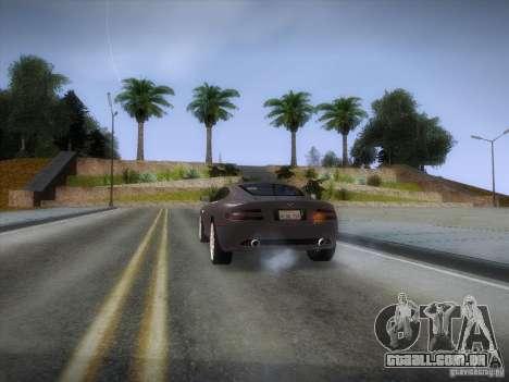 Aston Martin DB9 para GTA San Andreas vista inferior