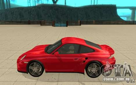 Porsche 911 (997) Turbo v3.0 para GTA San Andreas esquerda vista