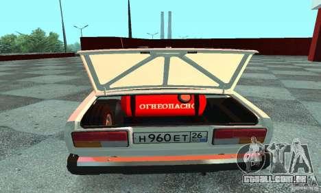 Vaz-2107 v. 3 para GTA San Andreas vista direita