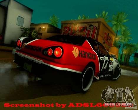 Need for Speed Elegy para GTA San Andreas traseira esquerda vista