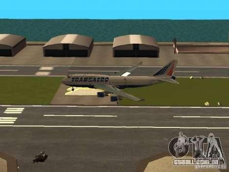 Boeing 747-400 para GTA San Andreas vista interior
