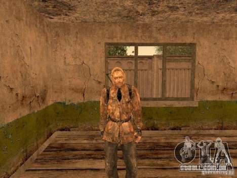 Cicatriz de pele de um stalker para GTA San Andreas segunda tela