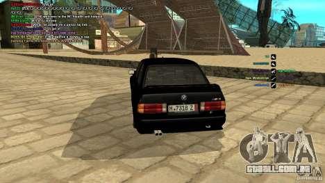 BMW M3 E30 1989 para GTA San Andreas traseira esquerda vista