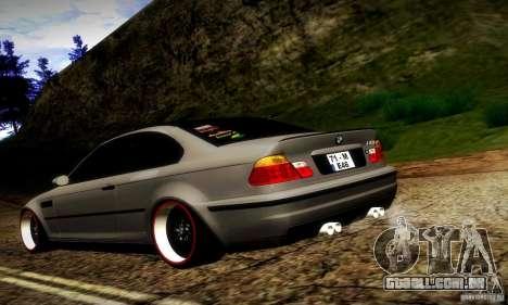 BMW M3 JDM Tuning para GTA San Andreas traseira esquerda vista