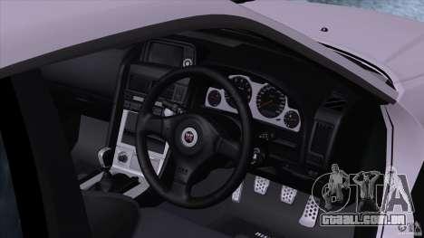 Nissan Skyline GTR-34 M-spec Nur para GTA San Andreas vista direita