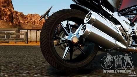 Ducati Diavel Carbon 2011 para GTA 4 vista interior