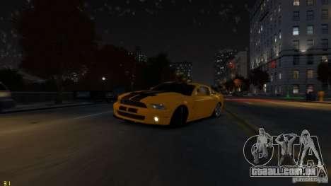 Ford Shelby Mustang GT500 2011 v2.0 para GTA 4 interior