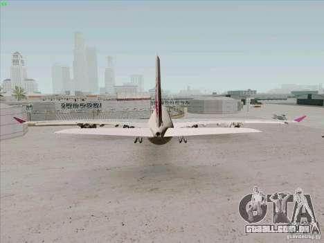 Airbus A-340-600 Quatar para GTA San Andreas traseira esquerda vista