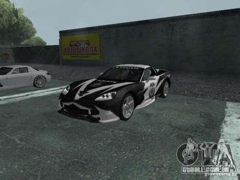 Chevrolet Corvette C6 para as rodas de GTA San Andreas