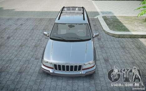 Jeep Grand Cheroke para GTA 4 vista de volta