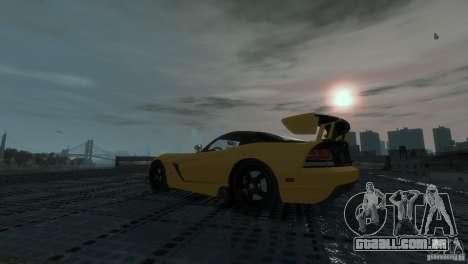 Dodge Viper SRT-10 ACR 2009 para GTA 4 vista direita
