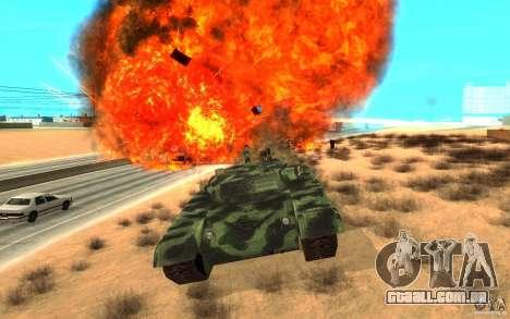 Tanque T-72 para GTA San Andreas vista interior