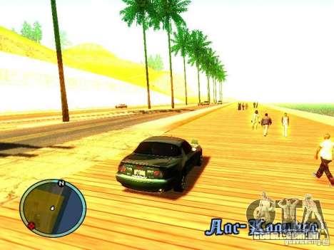 Mazda Miata 1994 para GTA San Andreas vista direita