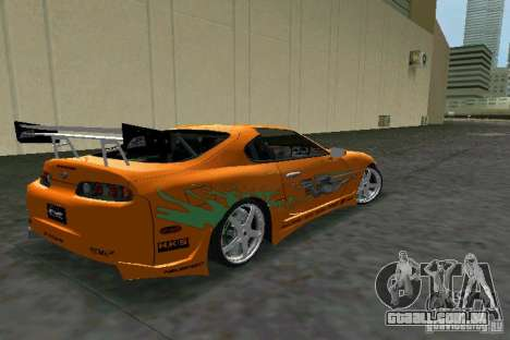 Toyota Supra Fast and the Furious para GTA Vice City vista direita