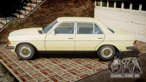 Mercedes-Benz 230E 1976 para GTA 4 esquerda vista
