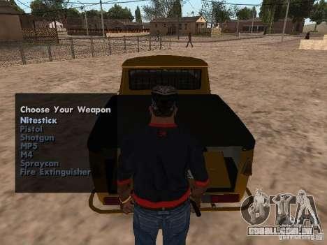 Armas no porta-malas para GTA San Andreas segunda tela