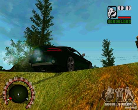 Aston Martin V8 Vantage N400 para GTA San Andreas vista traseira