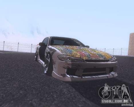 Nissan Silvia S15 Street para GTA San Andreas esquerda vista