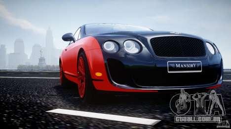 Bentley Continental SS 2010 Le Mansory [EPM] para GTA 4 motor